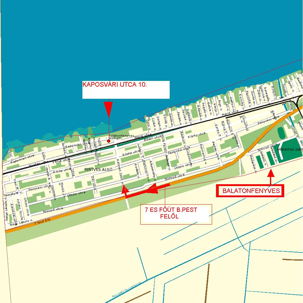 balatonfenyves térkép Maurer Apartmanház Balatonfenyves térkép balatonfenyves térkép